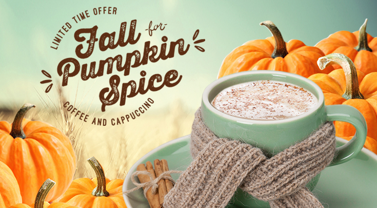 Pumpkin Spice Coffee and Cappuccino