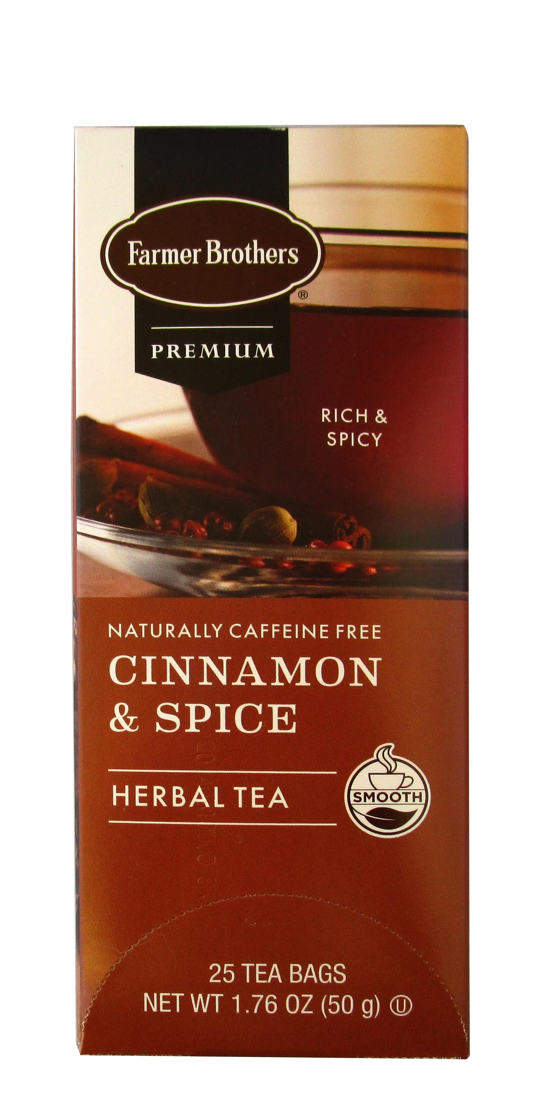 Farmer Brothers Premium Cinnamon & Spice Herbal Tea
