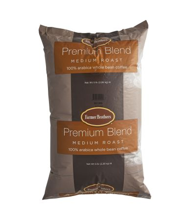 100% Arabica Medium Roast Whole Bean Coffee - 5 lb. Bag