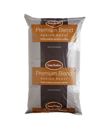 100% Arabica Medium Roast Ground Coffee - 5 lb. Bag