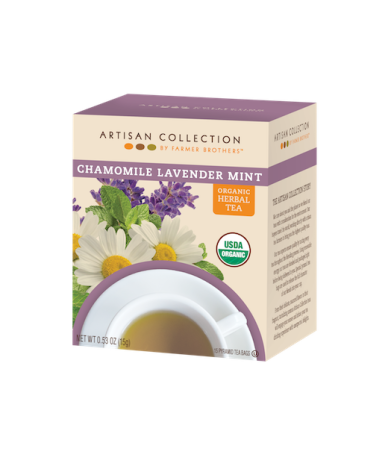 Artisan Collection Organic Chamomile Lavender Mint Herbal Tea