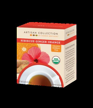 Artisan Collection Organic Hibiscus Ginger Orange Herbal Tea